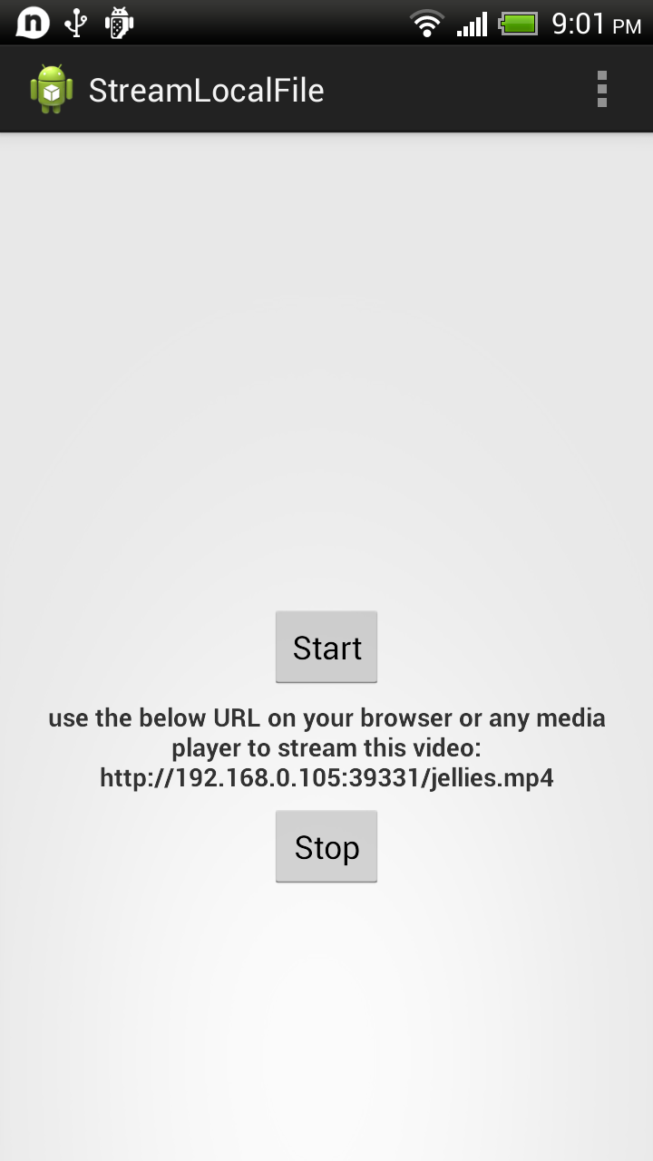 HttpServer on Android to stream local video files to other